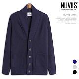 [뉴비스] NUVIIS - 골지 숄카라 단추 가디건 (RM056CD)