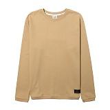 [리오그램] REOGRAM 사이드 지퍼 맨투맨 티셔츠(BE)B-35 크루넥 스��셔츠