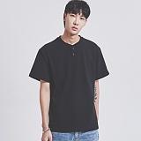 [어반플레이어스]10s HENRY-NECK SHORT T-SHIRTS (BLACK) 10수 헨리넥 반팔티 티셔츠