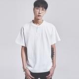 [어반플레이어스]10s HENRY-NECK SHORT T-SHIRTS (WHITE) 10수 헨리넥 반팔티 티셔츠