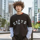 [어반플레이어스]16s LAYERED T-SHIRTS (BLACK) 16수 긴팔티 레이어드 티셔츠