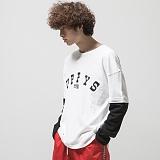 [어반플레이어스]16s LAYERED T-SHIRTS (WHITE) 16수 긴팔티 레이어드 티셔츠