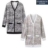 [해리슨] HARRSION 웨이브 롱 가디건  CL1234