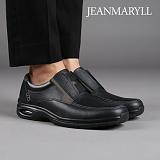 [장마릴 남성 캐주얼] jeanmaryll JM002 블랙 천연소가죽/에어쿠션/슬립온/로퍼