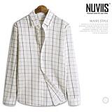 [뉴비스] NUVIIS - 주름 체크 긴팔셔츠 (JS025SH)