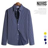 [뉴비스] NUVIIS - 상상 세로줄 긴팔셔츠 (JS024SH)
