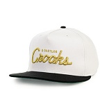 [크룩스앤캐슬] Crooks and Castles The Team Crooks Snapback in White and Black 스냅백