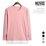[뉴비스] NUVIIS - 레이어드 베이직 컬러 긴팔 티셔츠 (ZA088TS)