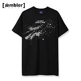 [엠블러]AMBLER 신상 자수 반팔티셔츠 AS418-블랙