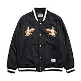 [세인트페인]SAINTPAIN - SP HOMESICK SVNR STADIUM JKT-BLACK 스카쟌 수베니어 스타디움 자켓 재킷