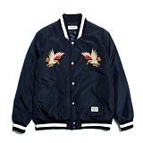 [세인트페인]SAINTPAIN - SP HOMESICK SVNR STADIUM JKT-NAVY 스카쟌 수베니어 스타디움 자켓 재킷