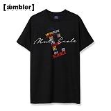 [엠블러]AMBLER 신상 자수 반팔티셔츠 MS102-블랙