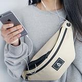 [에이비로드]ABROAD - Basic Waist Bag (beige) 힙색 웨이스트백
