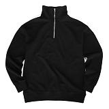 [레이쿠] reiku half zipup Sweatshirt Black 하프넥 지퍼 스��셔츠