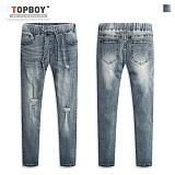 [탑보이] TOPBOY - 라인 밴딩 데님 팬츠 (BN022) 청바지