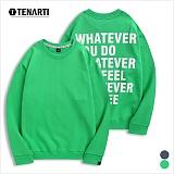 [테너티] 남녀공용 3단쭈리 WHATEVER 맨투맨 (T035)