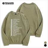 [테너티] 남녀공용 3단쭈리 스타일 눈금 맨투맨 (T024)