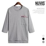 [뉴비스] NUVIIS - 베이직 포켓 7부 티셔츠 (ZA087TS)
