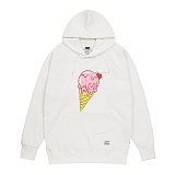 STIGMA - ICE CREAM MEDIUM SWEAT HOODIE IVORY 후드티 프린팅