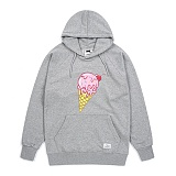 STIGMA - ICE CREAM MEDIUM SWEAT HOODIE GREY 후드티 프린팅
