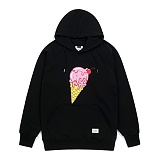STIGMA - ICE CREAM MEDIUM SWEAT HOODIE BLACK 후드티 프린팅