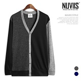 [뉴비스] NUVIIS - 컬러배색 심플 버튼 가디건 (RM059CD)