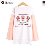 [엘루이즈] Elouise - eld2jj068 깡통 오버핏 언발란스 티셔츠