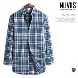 [뉴비스] NUVIIS - 도키 체크 긴팔셔츠 (MS043SH)
