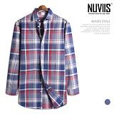[뉴비스] NUVIIS - 디디 체크 긴팔셔츠 (MS042SH)