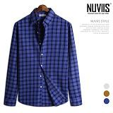 [뉴비스] NUVIIS - 보이스 체크 긴팔 캐쥬얼 셔츠 (JS034SH)