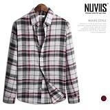 [뉴비스] NUVIIS - 황제 체크 긴팔 캐쥬얼 셔츠 (JS033SH)