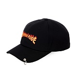 [아케이드코드] AC FLAME BALLCAP - Black 볼캡 야구모자 피어싱캡 피어싱볼캡