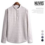 [뉴비스] NUVIIS - 오프닝 헨리넥 긴팔 셔츠 (JS037SH)