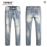[탑보이] TOPBOY - 오일 빈티지 데님팬츠(SJ068) 청바지