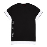 [라지크] RAZK - SIDE LETTERING layered T-Shirt (BLACK) 반팔 반팔티 레이어드