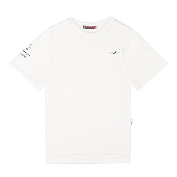 [라지크] RAZK X FLATFITTY - P.P T-SHIRT (WHITE) 반팔 반팔티 티셔츠 플랫피티 콜라보
