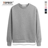 [탑보이] TOPBOY - 기획 네오프렌 레이어드 맨투맨 (MR002)