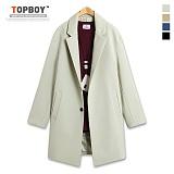 [탑보이] TOPBOY - 심플 포켓 투버튼 코트 (RW255)