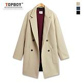 [탑보이] TOPBOY - 포켓 포인트 더블 코트 (RW252)