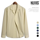 [뉴비스] NUVIIS - 베이직 오픈카라 긴팔셔츠 (RW084SH)