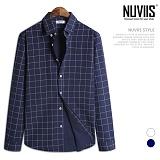 [뉴비스] NUVIIS - 핀 체크 긴팔셔츠 (JS043SH)