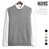 [뉴비스] NUVIIS - 피셔 짜임 니트 조끼 (DS119VS)