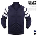 [뉴비스] NUVIIS - 숄더 포인터 삼선 집업 점퍼 (MZ063JP)