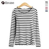 [엘루이즈] Elouise - eld2pp003 러블리 단가라 긴팔 티셔츠