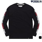 [크루클린] 소매 레터링 긴팔 티셔츠 TRL719