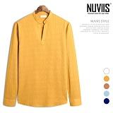 [뉴비스] NUVIIS - 쭈글 헨리넥 긴팔셔츠 (JS044SH)