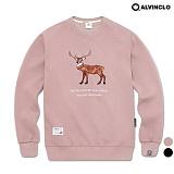 [앨빈클로]ALVINCLO MAR-636DP 순록 자수 맨투맨 티셔츠