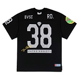 STIGMA - 38 OVERSIZED FOOTBALL T-SHIRTS BLACK 풋볼티 럭비티