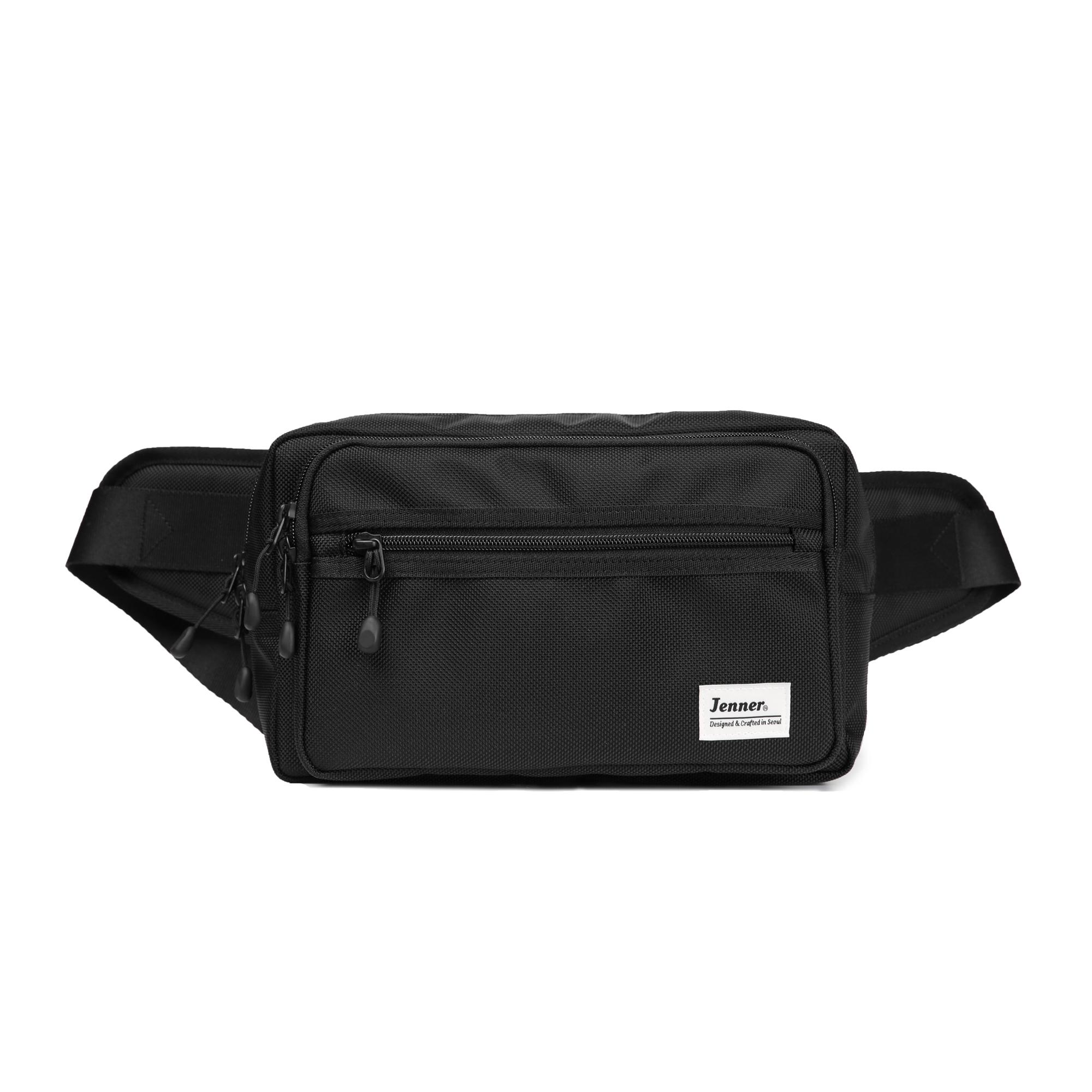 [제너] JENNER AROUND WAIST BAG BLACK U5 어라운드 웨이스트백 블랙