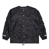 [블랙스케일] BLACKSCALE SCOOP NECK COACHES JACKET BLACK 코치자켓